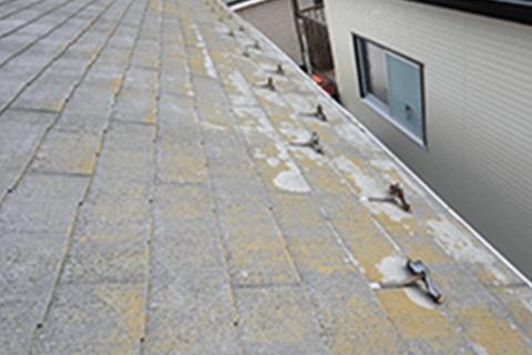 屋根のサビ、色あせ