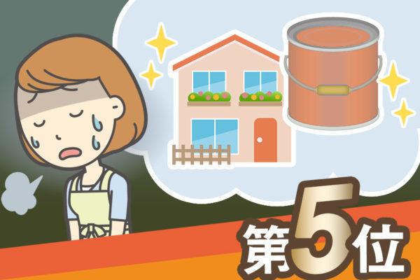 外壁塗装、屋根塗装の失敗例 第5位は?